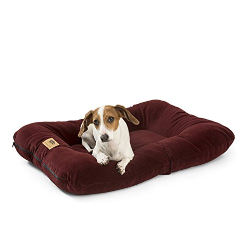 West Paw Design Heyday Dog Bed with Microsuede, Super Durable and Easy to Clean Pet Bed, Wine, X-Large
