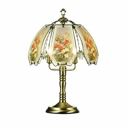 Ok Lighting Ok632abhc9sp3 Touch Lamp With Hummingbird Theme Antique Bronze 9 5 X 14 75 X 10 75