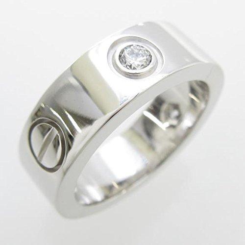 [カルティエ] Cartier ラブリング ハーフダイヤ リング 中古 B075GK4NHS