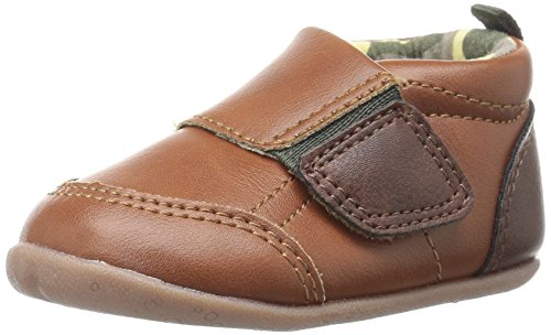 Carter's Every Step Stage 2 Girl's and Boy's Standing Shoe, Alex, Brown/Green, 3.5 M US Toddler