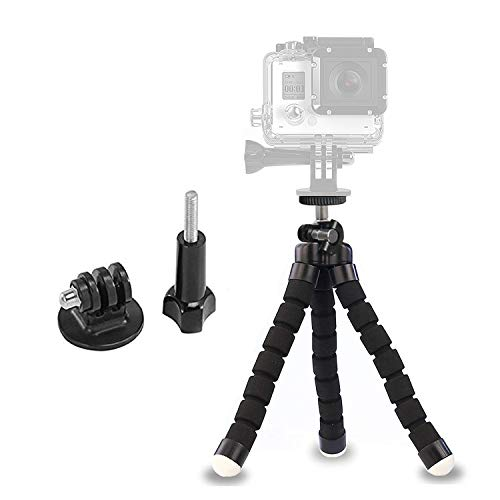 Ailun Phone Tripod,Tripod Mount/Stand,Phone Holder&Camera Screw Kits,Mount Adapter Included,Compatible with iPhone X/Xs/XR/Xs Max/8/7/7 Plus,6s,6s Plus,SE/5c and More[Black]