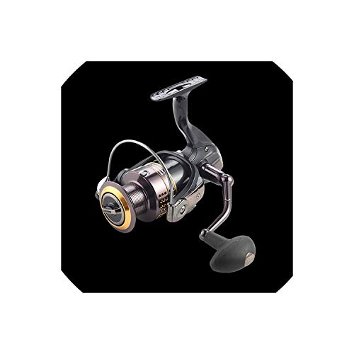 Brilliant-store 13 + 1Bb Gear Ratio Up to 5.1:1 Spinning Fishing Reel with Exchangeable Handle Automatic Folding for Casting Line,13,1000 Series