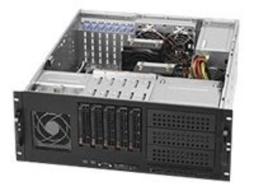 Supermicro CSE-842TQ-865B 865W 4U Tower/Rackmount Server Chassis (Black) by Supermicro (Image #1)