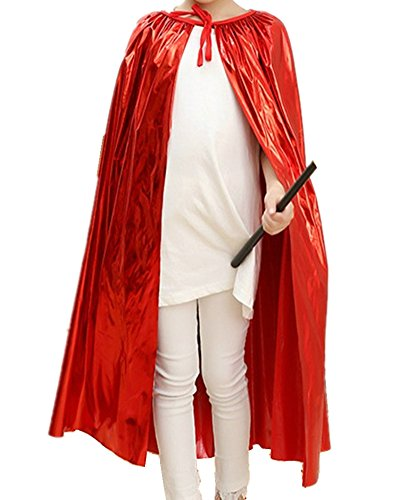 Easy Red Queen Costume (Sorrica Kids Long King Queen Robe Cloak Cape Halloween Party Role Cosplay Costumes (Red))