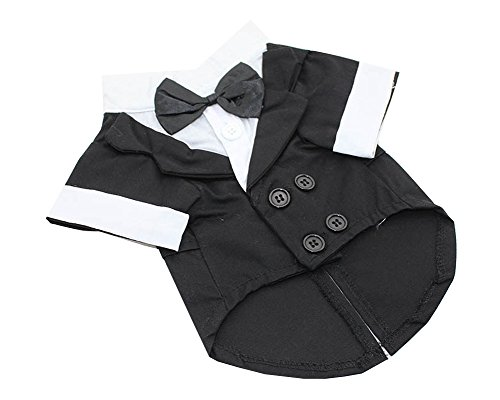 S-Lifeeling Gentleman Fashion Bowknot Teddy Dog Clothes Spring Summer Pet Costumes Comfortable Design Pet (2)