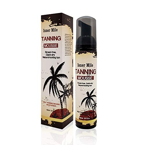 Self Tanner Mousse For Quick Natural Sunless Tanning Self Tanner Foam 3.4 FL OZ