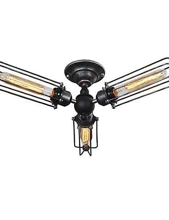 HJL- WESTMENLIGHTS Industrial 3 Lights Ceiling Light , yellow-90-240v