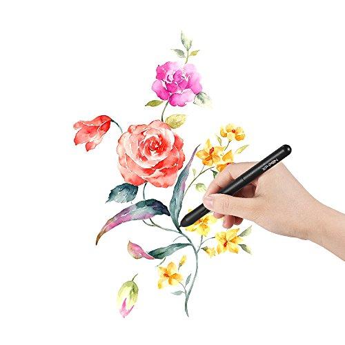 XP-PEN P01 Battery-free Passive Stylus Drawing Tablet Pressure Pen for XP-PEN Star 01/ 02/ 03/ 06/ 06C/ G430/ G540/ G640 Tablet (Black)