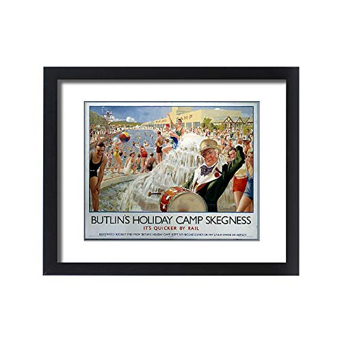 Media Storehouse Framed 20x16 Print of Butlin s Holiday Camp, Skegness, LNER Poster, 1930 ()