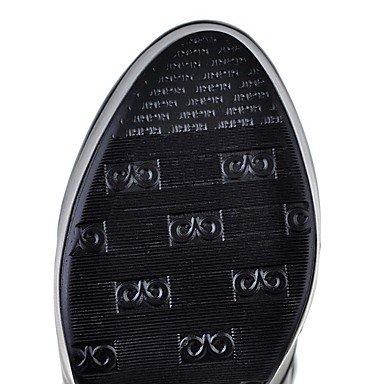 LFNLYX Mujer-Tacón Robusto-Plataforma / Botas a la Moda-Botas-Exterior / Casual / Fiesta y Noche-Semicuero-Negro / Blanco / Beige Black