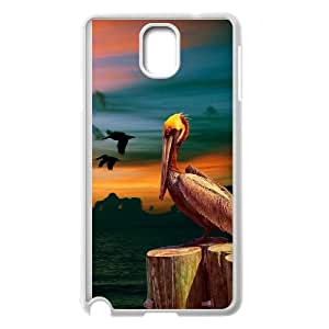 BE A FLAMINGO IN A FLOCK OF PIGEONS Samsung Galaxy Note 3 Cell Phone Case White H7905766