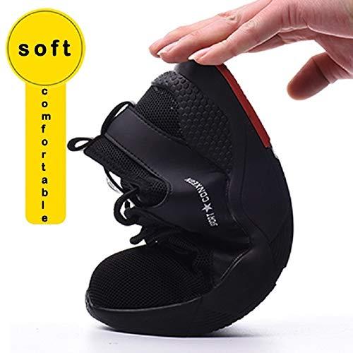 tqgold Chaussures de sécurité pour hommes / femmes, bout en acier, baskets légères, respirantes, pour randonnée, marche… 5