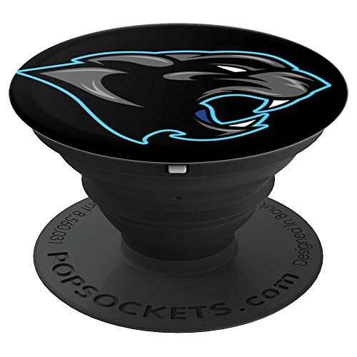 Panthers Cell - Cool Black Panthers Mascot Sports Team Panther Pride Gifts - PopSockets Grip and Stand for Phones and Tablets