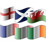 Tout 6 x Participant Six-Nations Rugby 5'x 3' Qualité Supérieure Flags - L'angleterre, écosse, Irlande, Pays de galles, France & Italie