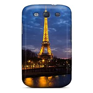 UqsMpAy5227JRpxd Anti-scratch Case Cover Mialisabblake Protective Eiffel Tower Sunset Case For Galaxy S3