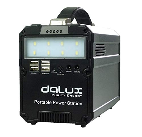 DALUX 300W Portable Generator Lithium Portable Power Station, 87000mAh Backup Battery Pack UPS Power Supply 110V AC Outlet, USB, 12V DC, LED Flashlight for Camping, Home, Emergency Uncategorized