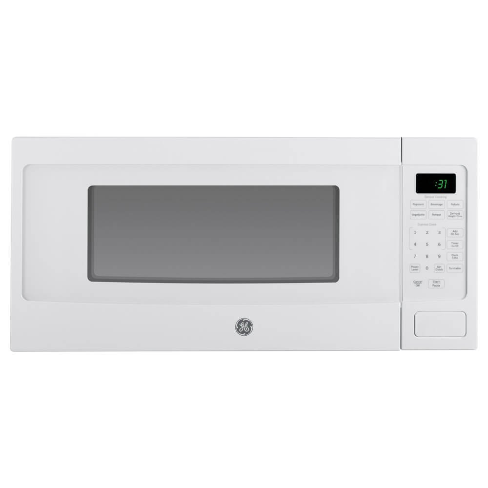 GE PEM31DFWW Profile 1.1 Cu. Ft. White Countertop Microwave