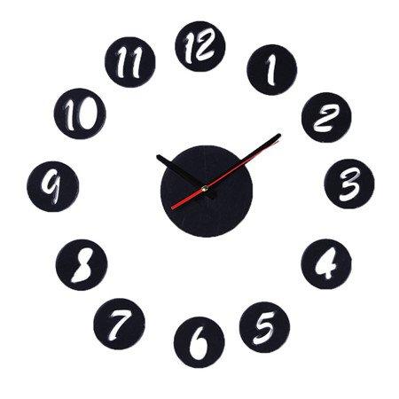 Astilla negra redonda de cristal acrílico Digital DIY Relojes de pared Reloj de pared Cuarzo moderna decoracion DIY Combinación Venta caliente!,negro: ...