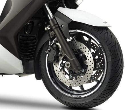 Set Tiras Adhesivo para Ruedas Compatible para Yamaha X MAX Scooter Xmax 125-250 - Blanco: Amazon.es: Coche y moto