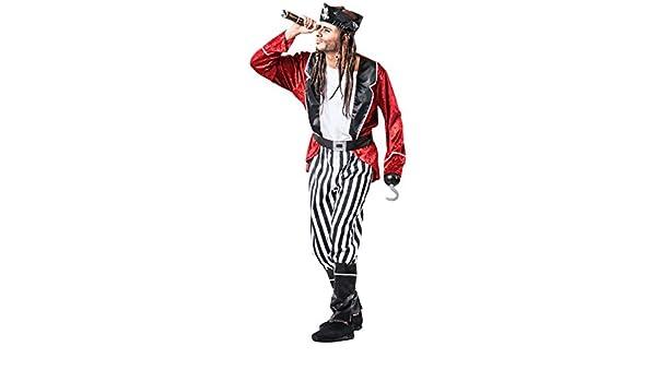 Disfraz de Pirata a Rayas para hombre: Amazon.es: Juguetes y juegos
