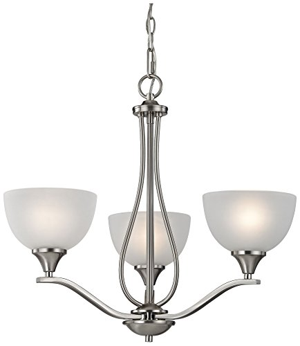 Elk Lighting 2103CH/20 Bristol Lane 3 Light Chandelier , Brushed Nickel