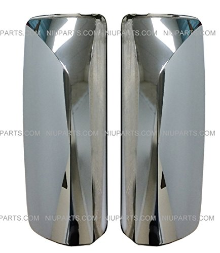 Door Mirror Cover Chrome with Flat Back – Driver & Passenger Side (Fit: Volvo VNL Trucks 04-16 )