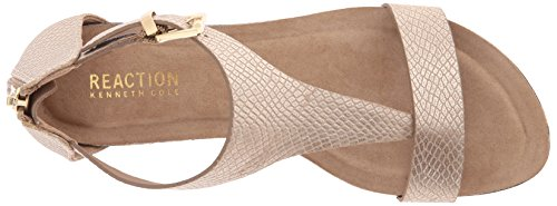 REACTION Great Soft Women's Gal Sandal Cole Kenneth Gold Wedge ABWqwxFPZ5