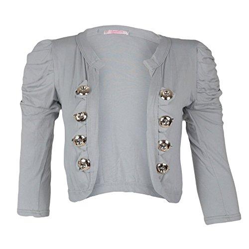 Militaire Sherle 3 Shopug Top Et Bolero Femme Nouvelle Ruched Grey Shrug Imprimé Mixlot 4 Plaine EaFwv0xAqq