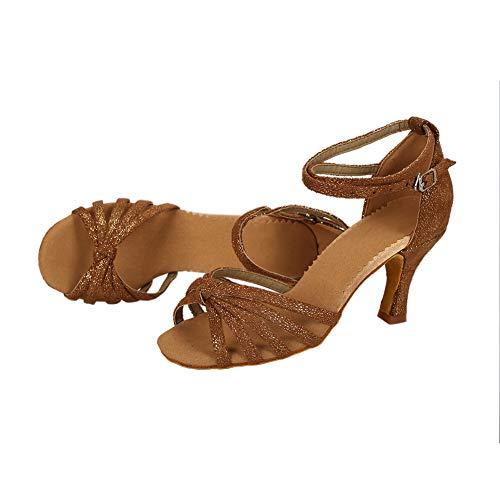TRIWORIAE Tacco Sala 7cm Donna 5cm Scarpe da da Ballo Latino Caffè Standard 7cm Tacco Ballo OaOBPqwr