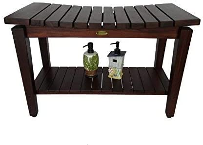 Sojourn 30″ Contemporary Teak Eastern Style Shower Bench