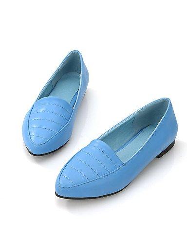 Eu36 Yyz Beige Azul Negro Planos Plano Rojo Tac¨®n Beige Uk6 Uk3 De Black us5 Casual Puntiagudos Mujer Zapatos us8 5 Vestido 5 Cn35 Eu39 Semicuero Cn39 Exterior Comfort Zq dxa6O4qd