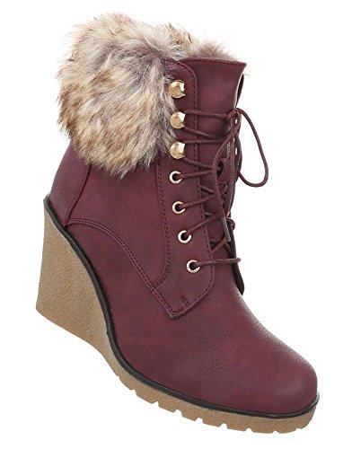 Sportliche Damen Stiefelette | Stiefeletten Plateau Wedges | Keilabsatz  Schuhe | Wedge Ankle Booties | Heels