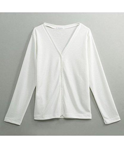 トップス?チュニック [nissen(ニッセン)] 選べる袖丈?レーヨン混でさらり素材◎UV加工Vネックカーディガン