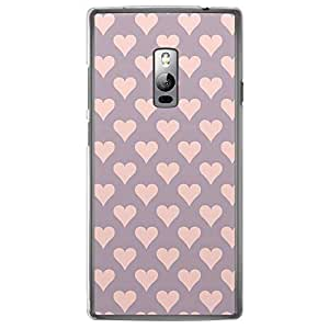 Loud Universe OnePlus 2 Love Valentine Printing Files Valentine 106 Printed Transparent Edge Case - Purple/Pink