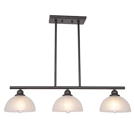 Amazoncom Tuluce Modern Chandelier Oil Rubbed Bronze Alabaster