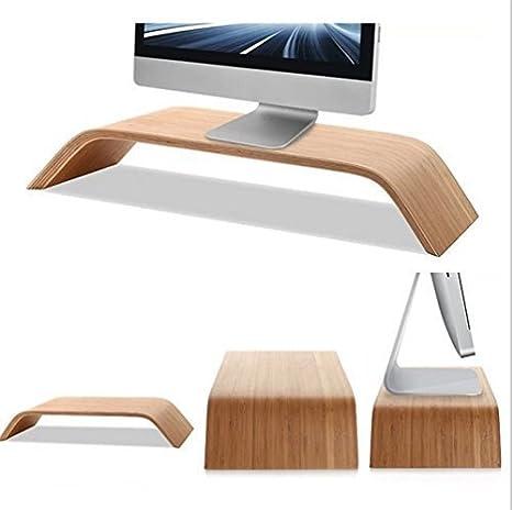 Fashion doble ordenador de sobremesa Monitor aumentar soporte de madera Dock Soporte Pantalla Soporte monitor Soporte para iMac, elevador para Generic TV de sobremesa con LED Pantalla LCD 15 (abedul): Amazon.es: