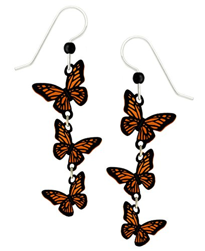 Monarch Butterfly Bead (Sienna Sky 3D Monarch Butterfly Wings Long Dangle Earrings with Gift Box Made in USA)