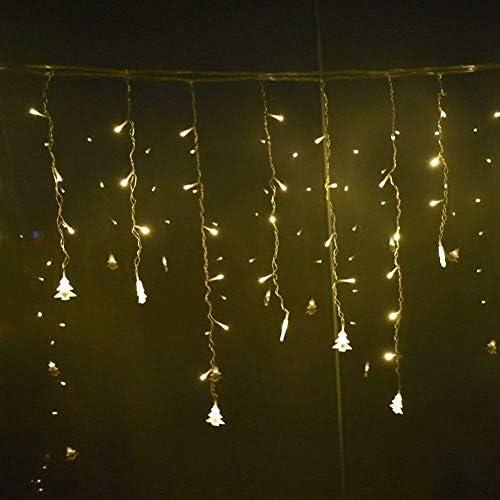 Lichterketten Schneeflocke Stern-Vorhang-Schnur-Lichter Eiszapfen Lichterketten Hochzeit Girlande Dekoration Licht (Color : Tree)