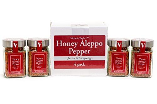 Honey Aleppo Pepper 4 Pack - Sweet, mild heat. Adds a unique flavor ()