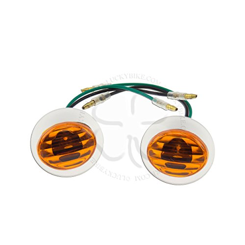 Lighting - Universal - Flush - Turn Signal - Leopard - Mini Cateye - Amber Amber Leopard