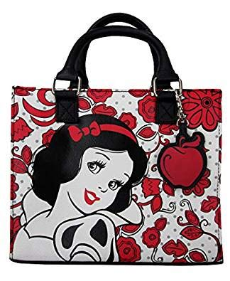 Loungefly x Disney Princess Snow White Convertible Duffle Purse (One Size, Black/White/Red)