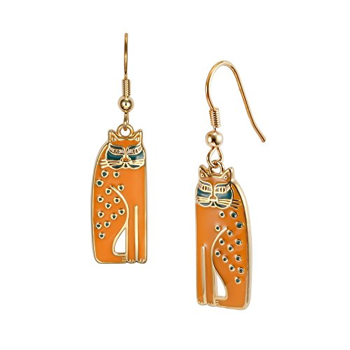 (Laurel Burch Mustard Yellow Siamese Cats Dangle Earrings)