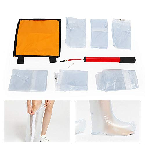 7pcs Inflatable Air Splint Set Emergency Kit Hand Arm Leg Ankle Relieve Pain First Aid Emergency Kit (USA Stock)