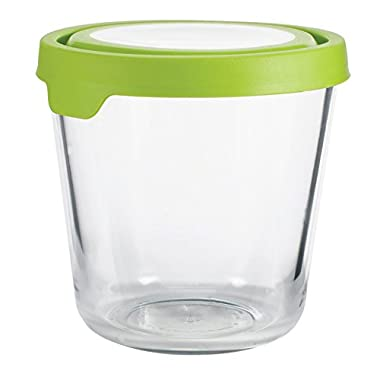 Anchor Hocking 11907AHG17 Trueseal Glass Food Storage Containers Airtight Lids, 7 Cup Tall, Green