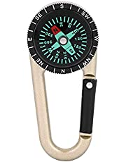Alomejor karabijnhaak, 2-in-1, karabijnhaak, kompas, clip, outdoor, wandelen, camping, sleutelhanger