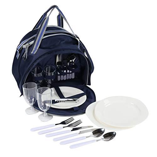 Regatta Epula 4 Person Picnic Pack with Integrated Cool Bag Dark Denim/Light ()