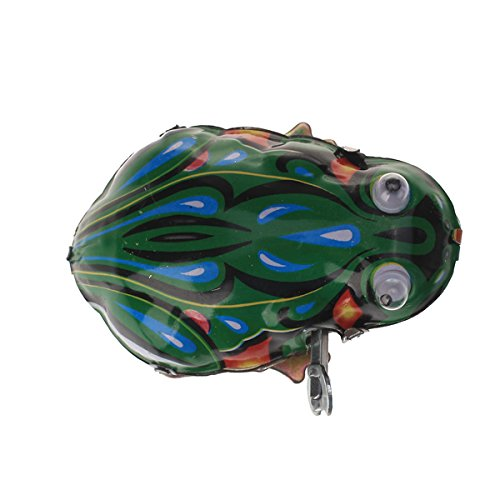 Gazechimp Kreative Wind-up Frosch Modell Blechspielzeug Sammler Geschenk f/ür Kinder und Erwachsene