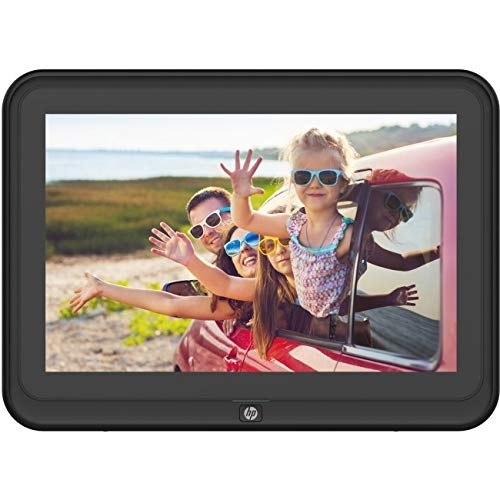 Digital Picture Frame, HP 10.1 inch WiFi Photo Frame, 1280x800 HD IPS Display, 8GB Internal Storage, iPhone & Android App, Support Photo, Music, Calendar with Built-in Speakers - Black