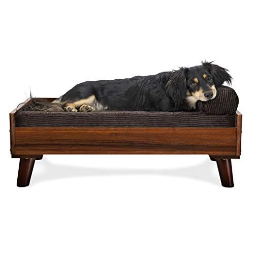FurHaven Pet Bed Frame | Bed Frame for Pet Beds & Mattresses, Walnut, Medium