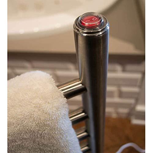 - Amba Solo Freestanding Electric Towel Warmer Finish: Brushed, Size: 38